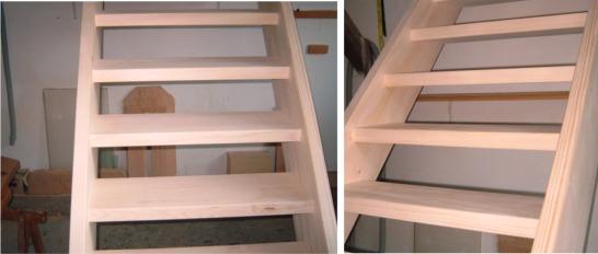 gerade treppe holztreppe bodentreppe aus fichte ebay. Black Bedroom Furniture Sets. Home Design Ideas