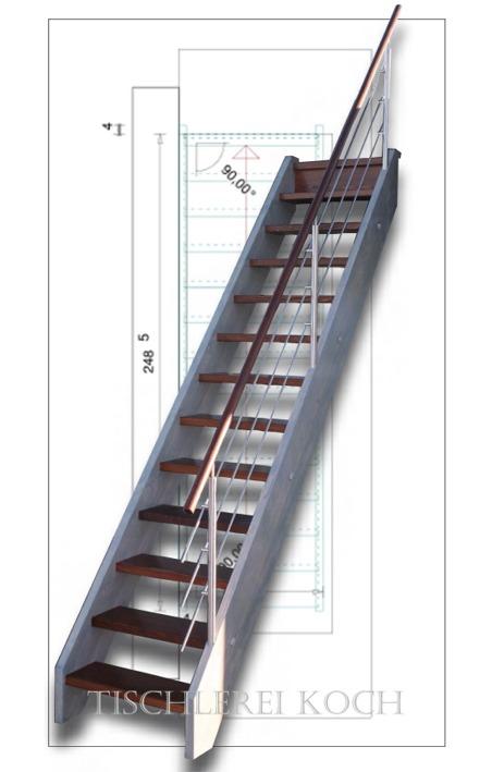 schn ppchen gerade treppe raumspartreppe fichte esche mit relinggel nder ebay. Black Bedroom Furniture Sets. Home Design Ideas