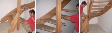 ma treppe massiv buche 1 4 gewendelt zur selbstmontage ebay. Black Bedroom Furniture Sets. Home Design Ideas